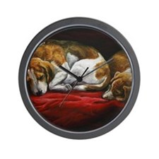 Sleeping Beagles Wall Clock