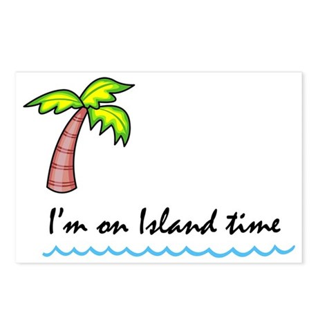 I'm on Island Time Postcards (Package of 8)