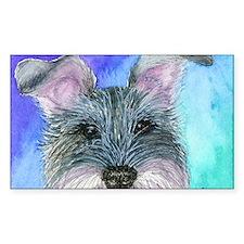 All ears Schnauzer dog Decal