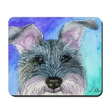 All ears Schnauzer dog Mousepad