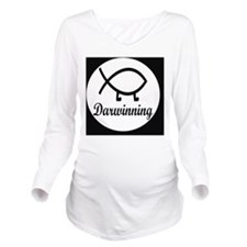 darwinningbutton Long Sleeve Maternity T-Shirt