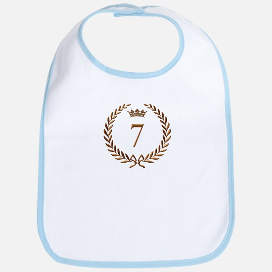 Napoleon gold number 7 Bib