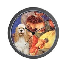 T-Angel3-Cocker1 Wall Clock
