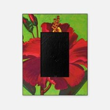 Vintage Red Hibiscus Picture Frame