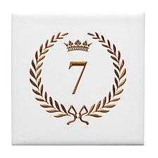 Napoleon gold number 7 Tile Coaster