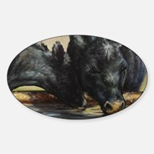 Two Black Angus Decal