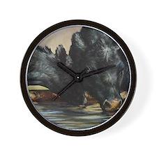 Two Black Angus Wall Clock