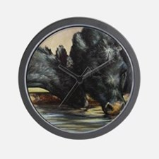 Two Black Angus Wall Clock