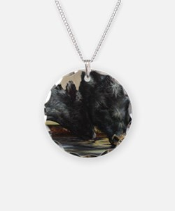 Two Black Angus Necklace