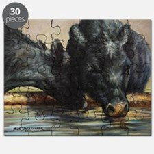 Two Black Angus Puzzle
