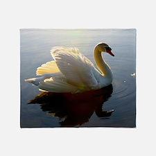 swan shirt Throw Blanket