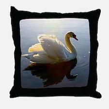 swan shirt Throw Pillow