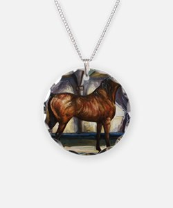 Bay Arabian Stallion with Ba Necklace