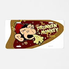DRUNKEN MONKEY Aluminum License Plate
