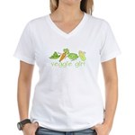 Veggie Girl Women's V-Neck T-Shirt