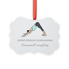 Downward Facing Dog Yoga Pose Ornament