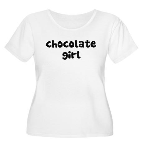 Chocolate Girl Women's Plus Size Scoop Neck T-Shir