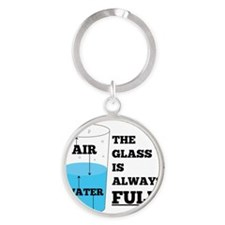 Glass Theory Round Keychain
