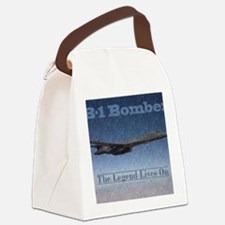 B-1 Nose Art Mosaic Poster Canvas Lunch Bag