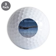 B-1 Nose Art Mosaic Poster Golf Ball