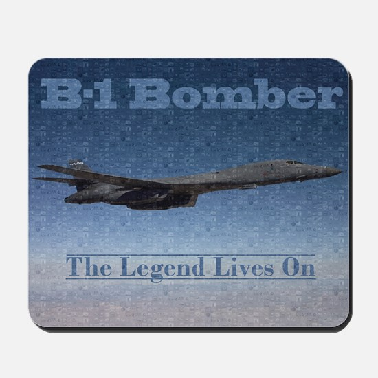 B-1 Nose Art Mosaic Poster Mousepad