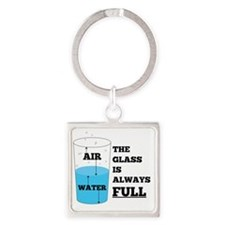 Glass Theory Square Keychain