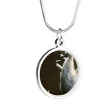 Baby Goose Silver Round Necklace