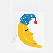 Sleepy Moon Greeting Card