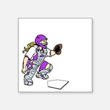 """purple2 Access Denied on bl Square Sticker 3"""" x 3"""""""