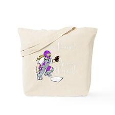 purple2 Access Denied on black Tote Bag