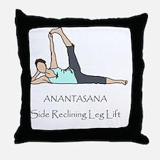 Yoga Pose - Anantasana Throw Pillow
