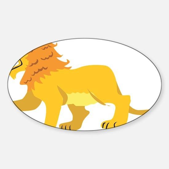 Lion Sticker (Oval)