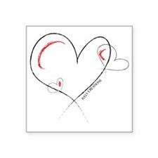 "HUGGABLE HEARTS Square Sticker 3"" x 3"""