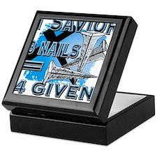 1 savior+3 nails= 4 given Keepsake Box