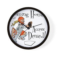 orange Access Denied Wall Clock