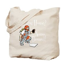 orange2 Access Denied on black Tote Bag