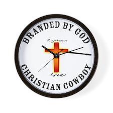 Christian Cowboy Wall Clock