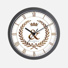 Napoleon gold & (ampersand) Wall Clock