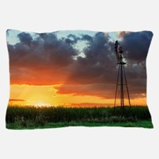 Windmill at Sunset Pillow Case