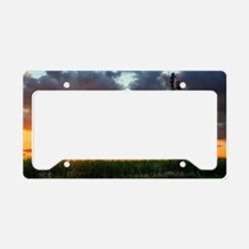 Windmill at Sunset License Plate Holder
