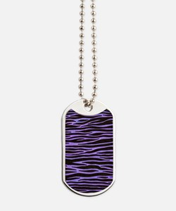 Purple Zebra Stripe Dog Tags