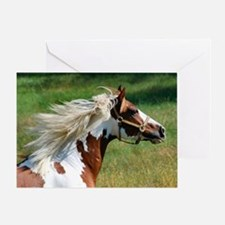 My Paint Horse Profile Greeting Card