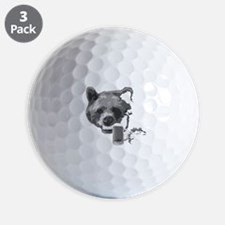 Grin and Beer it white Golf Ball