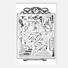Machinist Tools Masonic F Postcards (Package of 8)