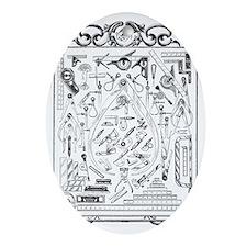 Machinist Tools Masonic Freemason Oval Ornament