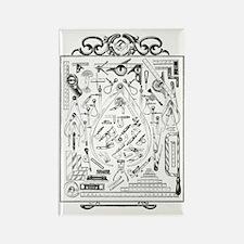 Machinist Tools Masonic Freemason Rectangle Magnet