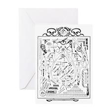 Machinist Tools Masonic Freemason Greeting Card