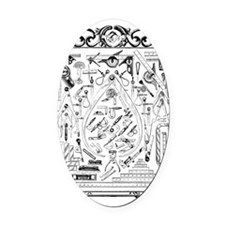 Machinist Tools Masonic Freemason Oval Car Magnet
