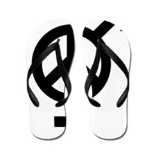 Peace Among and Within The Sexes Flip Flops