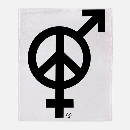Peace Among and Within The Sexes Throw Blanket